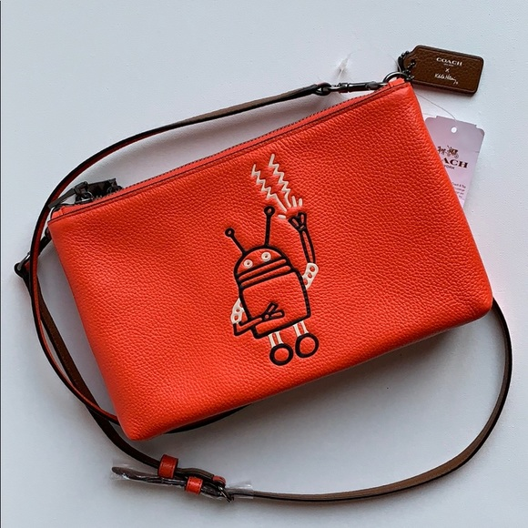 41e90280df3 Coach Bags | Nwt Keith Haring Robot Leather Crossbody | Poshmark